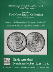 Historic American Coins, Currency & Printed Americana: October 19, 28, 1991