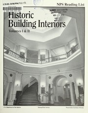 Historic Building Interiors, vol.1-2