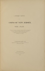 A Historic Sketch of the Coins of New Jersey