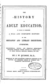 History of adult literacy