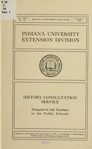 History consultation service designed to aid teachers in for Consul service catalog