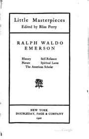 the essay on self reliance ralph waldo emerson history self reliance nature spiritual laws the american scholar