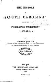 Government of the Colony of South Carolina : Edson Leone ...