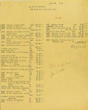 H.M.F. Schulman Invoices from B.G. Johnson, January 3, 1944, to December 2, 1944