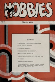 Hobbies: The Magazine for Collectors - 1931