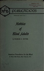 Hobbies for blind adults