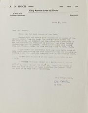 Alfred D. Hoch Correspondence, File 1, 1960-1961
