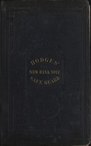 Picture of Hodges' Bank Note Safe-Guard