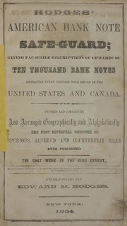 Hodges American Bank Note Safe Guard