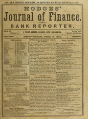 Hodges' Journal of Finance, and Bank Reporter, 2/5/1859