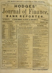 Picture of Hodges' Journal of Finance, and Bank Reporter