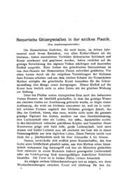 Homerische Göttergestalten in der antiken Plastikzum anschauungsunterrichte.