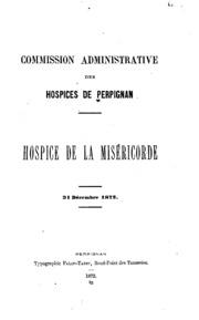 Hospice de la Miséricorde ... 31 Dec. 1872