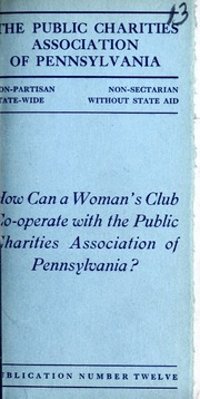 How can a woman's club co-operate with the Public Charities Association of Pennsylvania?
