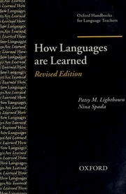How Languages Are Learned Lightbown Patsy Free Download Borrow And Streaming Internet Archive