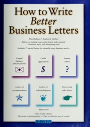 how to write a successful business letter