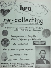 HRN Re-Collecting: Vol. 1, No. 1