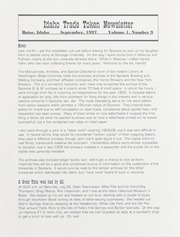 Idaho Trade Token Newsletter: Vol. 1, No. 9, September 1997