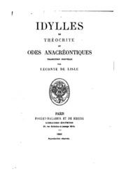 Idylles de Théocrite et Odes anacréontiques: traduction nouvelle