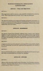 Illinois Numismatic Association Constitution