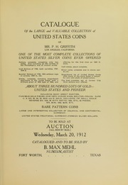 Illustrated Catalogue of the Collection of United States Coins of Mr. P. H. Griffith