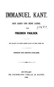 Immanuel Kant: Sein Leben und seine Lehre