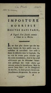 Imposture horrible débitée dans Paris, a l-égard d-un suicide commis à l-hôtel de la mairie.
