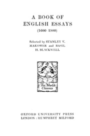 a book of english essays w e williams  a book of english essays 1600 1900