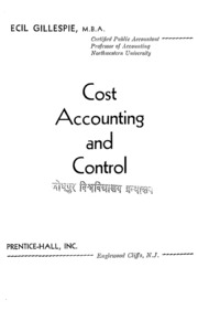 Cost Accunting And Costing Methods Ninth Edition : Wheldon,harold ...