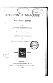 religion a dialogue and other essays schopenhauer arthur  religion a dialogue and other essays