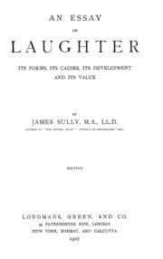 an essay on laughter its forms its causes its development and  an essay on laughter