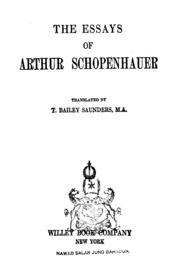 essays by schopenhauer