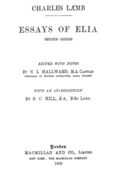 essays of elia by charles lamb lamb charles  essays of elia charles lamb