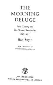 The Morning Deluge : Suyin Han : Free Download, Borrow, and