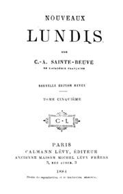 Nouveaux Lundis Vol. 5