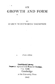 On growth and form : Thompson, D'Arcy Wentworth, 1860-1948 : Free ...