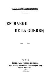 En Marge De La Guerre