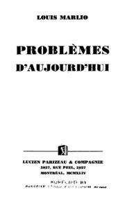 Problemes D' Aujourd' Hui