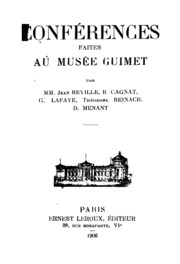 Conferences Au Musee Guimet Vol.18