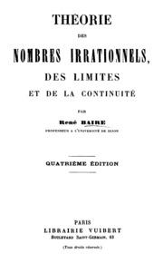 Theorie Des Nombres Irrationnels