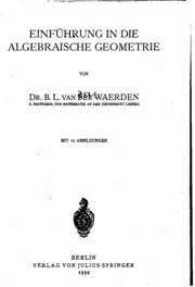 Einfuhrung In Die Algebraische Geometrie