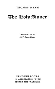 Download The Holy Sinner By Thomas Mann