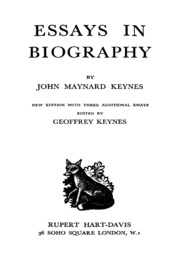 essays in biography john nard keynes  essays in biography