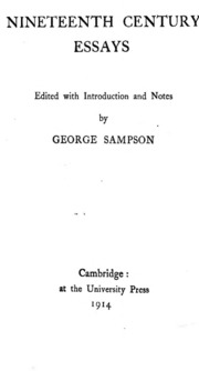 Persuasive Essay Samples High School Nineteenth Century Essays  Sampson George Ed  Free Download Borrow  And Streaming  Internet Archive Persuasion Essay also Essay Topics For Adults Nineteenth Century Essays  Sampson George Ed  Free Download  My Autobiography Essay