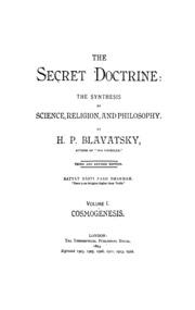 The Secret Doctrine Vol  1 : Blavatsky, H  P  : Free