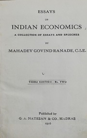 essays on n economics mahadev govind ranade  essays on n economics