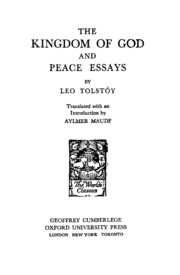The Kingdom Of God And Peace Essays  Leo Tolstoy  Free Download  The Kingdom Of God And Peace Essays  Leo Tolstoy  Free Download Borrow  And Streaming  Internet Archive Essay Paper Checker also Research Proposal Essay  Assignment Help Net