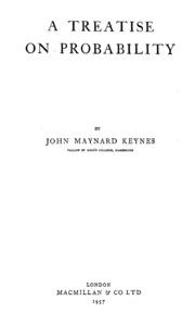 A treatise on probability john maynard keynes free download a treatise on probability fandeluxe Images