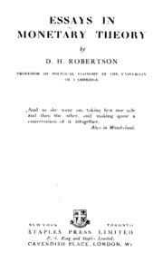 essays in persuasion keynes john nard  essays in monetary theory