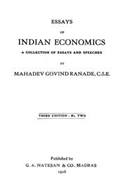 essays on n economics mahadev govind ranade  essays on n economics third edition
